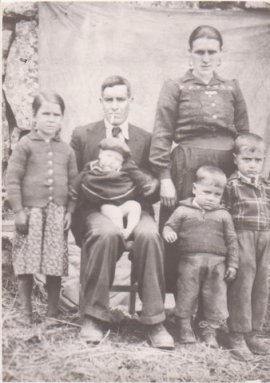 Photo of my family in Portugal, including two uncles who died of pneumonia before my father was born